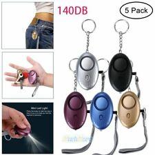 5X140DB Safe Sound Personal Security Alarm Keychain Emergency Siren w/ LED Light