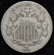 1872 Shield Nickel   F+ - VF