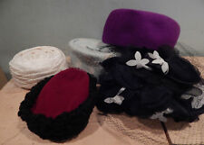 Lot Of 4 Vintage Woman'S Hats inc Henry Pollack & 1 Vintage Child'S Hat
