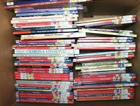 Huge Lot of 110 Childrens Biographies Hardcover Elementary Level Books