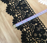 2 Yards black embroidery Tassel lace decoration sewing clothing Wedding dress