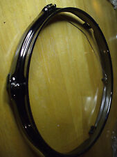 """10"""" BLACK NICKEL DRUM HEAD DISPLAY FRAME FOR YOUR AUTOGRAPHED DRUM HEAD - NEW !!"""