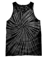 WOMEN'S TANK TOP VEST TIE DYE SPIRAL COLOURS MUSIC FESTIVAL INDIE RETRO SUMMER