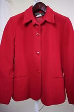 Harvé Benard Wool, Nylon & Cashmere Blend Red 3 Button Lined Jacket Size - 10P