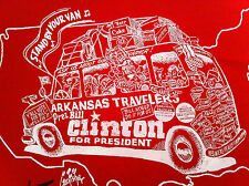 Geo Fisher Signed Shirt Clinton Political Cartoon AR Travelers Stand by Your Van