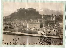 Österreich, Salzburg von Mülln  Vintage albumen print.  Tirage albuminé  21x