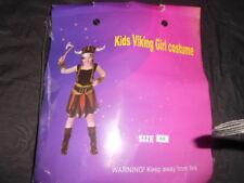 Complete Vikings Fancy Girl Dress Costume never worn sz xs black/orange/green