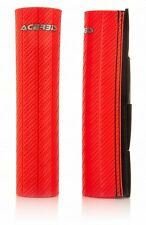 ACERBIS CARBON EFFECT RED RUBBER UPPER FORK PROTECTORS HONDA CRF250X 2016
