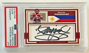 Manny Pacquiao Boxing Legend Signed Auto Custom Cut #'d 1/1 Trading Card PSA/DNA