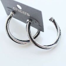 New Chicos 4cm Twist C Shape Hoop Earrings Birthday Gift Vintage Women Jewelry