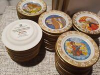 FRANKLIN mini plates fairy tales CAROL LAWSON complete set 50 MINT Limited Ed