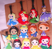 New Disney Princess Name Card Travel Suitcase Luggage Tags Backpack Labels