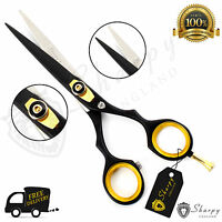 "6"" Black Professional Barber Hairdressing Scissors Pet Hair Cutting Shears"