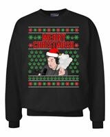 Elon Musk Merry Christmusk Weed Joint Pot Leaf Xmas  Ugly Christmas Sweater Crew