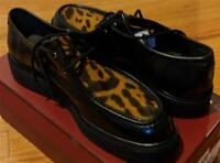 """$695 Mens Authentic Bally """"Dyson"""" Ponyhair & Leather Derby Creepers US 10.5 D"""
