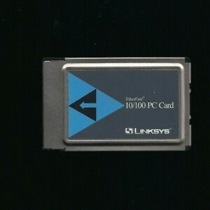 Linksys Ethernet Card Model PCMPC100 PCMCIA Etherfast 10/100