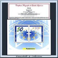FAI TU IL PREZZO Italia Foglietto Europa 2007 Trattati Roma Varietà Certificato