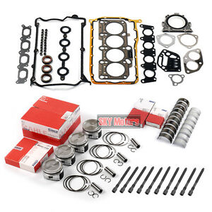 Engine Pistons Seals Bearing Overhaul Kit For VW Jetta Golf AUDI A4 TT 1.8T AWP