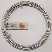 Nichrome 80 resistance wire, 11 AWG (gauge), 15 feet