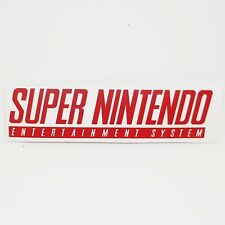 SNES Red Logo Sticker Vinyl Decal Super Nintendo - NO Video Game Console Mario
