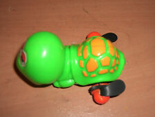 VINTAGE 80'S WIND UP SWIMMING GREEN TURTLE PLASTIC TOY MOC