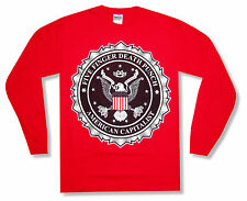 "FIVE FINGER DEATH PUNCH ""SEAL ON RED"" LONG SLEEVE T-SHIRT WAY OF THE FIST  NEW S"