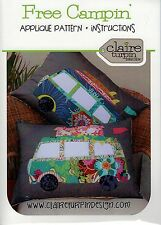 Free Campin - Cushion ~ Cute Van Applique Pattern ~ Claire Turpin Design