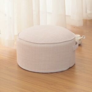 "16"" Chair Cushion Round Indoor Outdoor Garden Patio Footstool Pouf Ottomans"