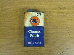 VINTAGE RARE GULF CHROME POLISH CAN GULF TIRE & SUPPLY CO PITTSBURGH, PA U.S.A