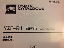 YAMAHA  R1 YZF-R1 PARTS LIST MANUAL CATALOGUE 2001 YZF 5PW1 paper bound copy.