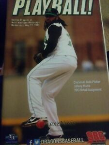 JOHNNY CUETO DAYTON DRAGONS IN TACT MILB PLAYBALL PROGRAM REDS PITCHER 5/22/13