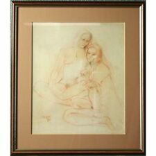 Fine Original Signed Framed Young Nudes Naked Women Studio Sketch Life Drawing