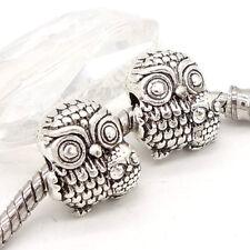 5pcs Tibetan silver European Charm Spacer beads fit Necklace Bracelet Chain #71