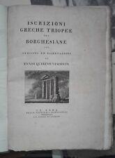 1794, Ennio Quirino Visconti - EPIGRAFIA - Iscrizioni greche triopee...