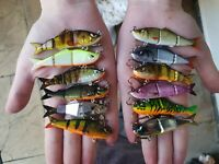 Custom mini Perch/Chub/Pike Fishing lures! 12 colours!! Dropshot LRF Jig