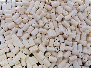 500 x 8mm Cream Wooden Tube Beads Craft Jewellery Wood Wooden Art Bead A146
