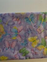 GLITTER BUTTERFLIES ON PURPLE CRYSTALLINE FABRIC TRADITIONS BY THE YARD