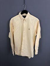 RALPH LAUREN YARMOUTH Shirt - Size 16.5 - Yellow - Great Condition - Men's