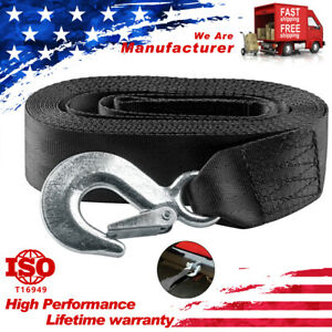 """2""""*20' 10000LBS MAX DELUXE BOAT SKI TRAILER REPLACEMENT WINCH STRAP W/SNAP HOOK"""