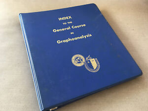 Vintage Spiral Notebook Book Index to General Course GraphoAnalysis Handwriting