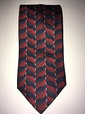 B2G1 Free XMI Classic 100% Silk Neck Tie Men's Red/Blue Geometric
