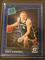 DONTE DIVINCENZO 2018-19 DONRUSS OPTIC RATED ROOKIE BLUE VELOCITY MINT #164