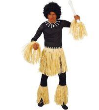 Set cannibale gonna bracciali e cavigliere per travestimento zulu indigeno