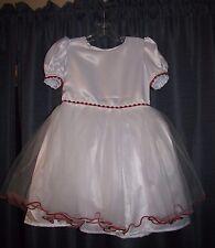 """Chiquita Reyna"" Girls White Formal Dress Size 2T - T1"