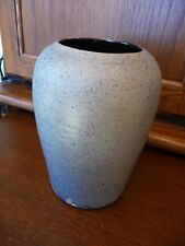 Beautiful Blue Speckled Satin-finish BACHELDER Vase - 7""