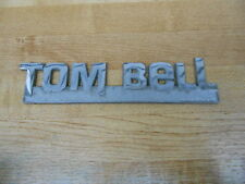 Vintage Tom Bell Chevrolet Redlands CA Car Dealer Dealership Metal Emblem