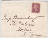 GB10056) GB 1d Red Plate 162 on cover 1874