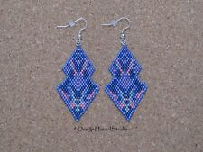 Peyote Earrings - Miyuki Beads - Art Deco