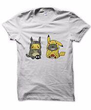 Pikachu Totoro unisex t-shirt pokemon studio ghibli present cute nerd gift