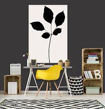3D Black Leaves 380NA Wall Stickers Vinyl Wallpaper Murals Boris Draschoff Fay